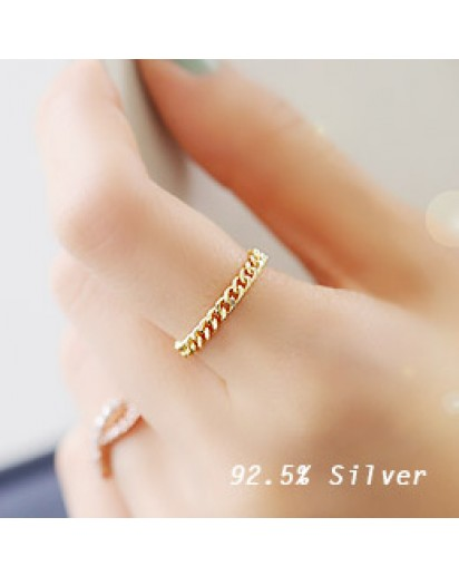 *92.5% Silver* Chic chain Silver ring