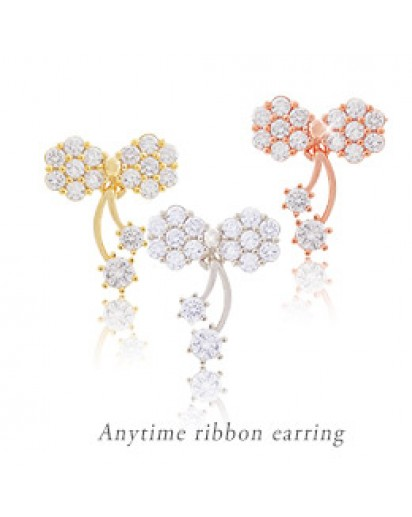 *92.5% Silver POST* Anytime ribbon earrings