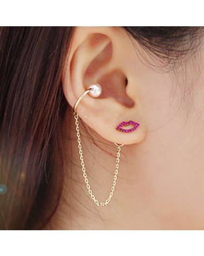 *92.5% Silver POST* Iolite lips earrings