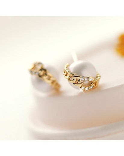 *92.5% Silver POST* Bella pearl earrings