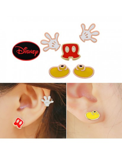 [Authentic Disney] *92.5% Silver POST* Ghost Mickey earrings