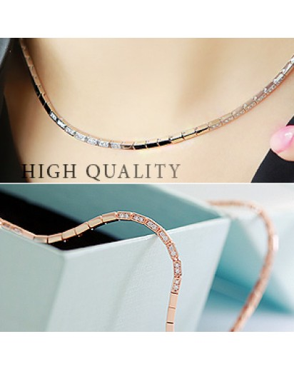 [High quality] LUX square chain necklace