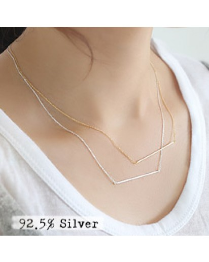 *92.5% Silver* Ultra slim stick necklace