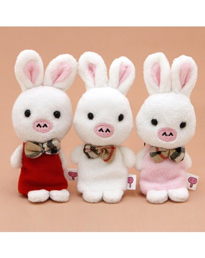 [You Are So Beautiful] Pig Rabbit Doll Cellphone Cleaner Strap