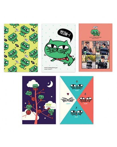 [2PM] OKCAT NOTE SET - OK TAC YUN CAT CHARACTER [Official MD Goods]