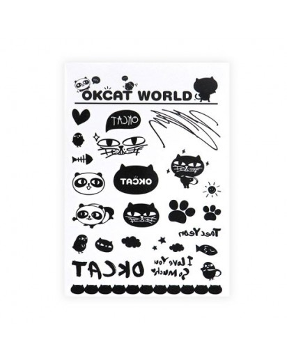 OKCAT Tattoo Sticker