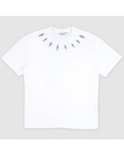 [thepartment] NECK LINE FEATHER SHOT SLEEVE WHITE