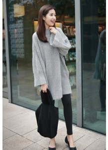 Highneck Angora Knit Dress