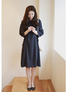 Layla Cuff-Sleeve Dress