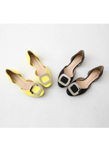 color buckle  shoes