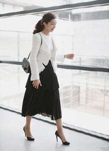 Layered Pleated Skirt