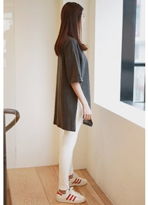 High-slit Washed Long Tee