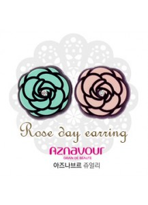 [Aznavour] Rose day earrings [post backs/clips]