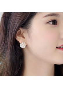 [Large Ver.] Volume Crystal earrings [post backs/clips]