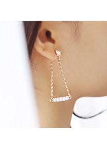 Swing drop earrings [post backs/clips]