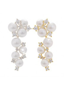 Glam pearl earrings [post backs/clips]