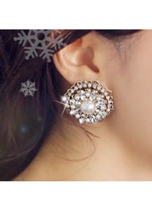 Big snowflake earrings [post backs/clips]