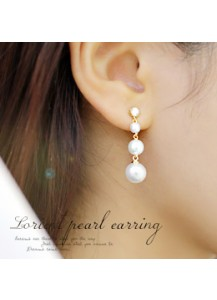 Lorient pearl earrings [post backs/clips]