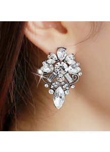 [Swarovski] Ares flower earrings [post backs/clips]