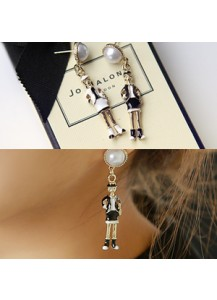Coco woman earrings [post backs/clips]