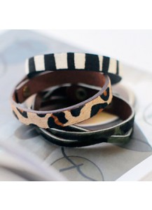 Simple & twist leather bracelet