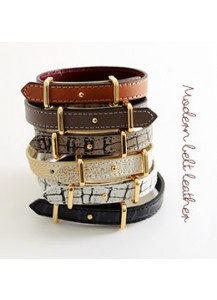 Modern belt leather bracelet
