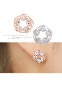 Cubic decorated earrings