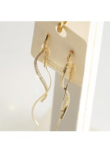 *92.5% Silver POST* Double cubic wave earrings
