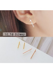 *92.5% Silver* Ultra slim stick earrings