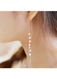 *92.5% Silver* Crystal bolero earrings