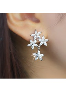 Triple bouquet earrings