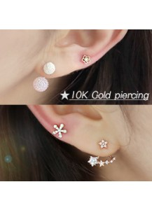 *10K Gold*  Flower series piercing