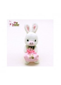 [You Are So Beautiful] Pig Rabbit Doll with Lucky Bag Cellphone Strap