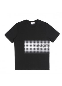 [thepartment] GINGHAM CHECK T-SHIRTS BLACK