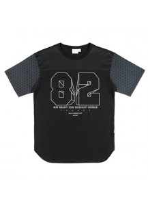 [thepartment] 82 LINE T-SHIRTS BLACK