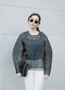 Volume Sheer Blouse