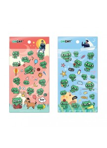 [2PM] OKCAT STICKER SET - OK TAC YUN CAT CHARACTER [Official MD Goods]