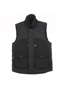 [thepartment] STAR QUILTING VEST BLACK