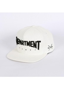 [thepartment] PUNCHING LEATHER CAP WHITE