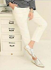 Slim Cotton Pants
