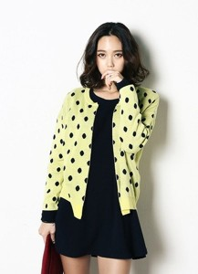Polka Dot Mini Open Cardigan