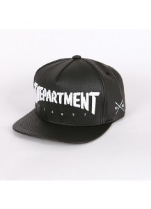 [thepartment] PUNCHING LEATHER CAP BLACK