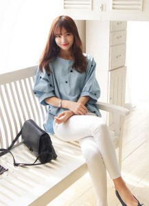 blue soda blouse