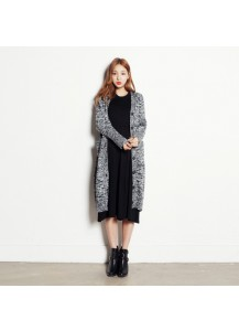 Raglan Long Knitted Cardigan