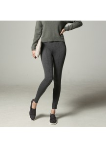 Slim Pants with Side Zipper