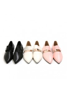 Pointed Velcro Loafers