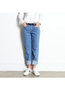 Hemline Trimmed Pants