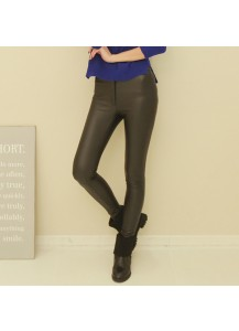 Banded Leather Pants