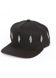 [thepartment] FEATHER 5 PANEL CAP BLACK