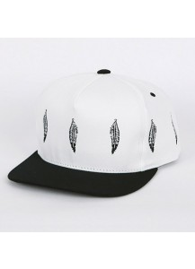 [thepartment] FEATHER 5 PANEL CAP WHITE